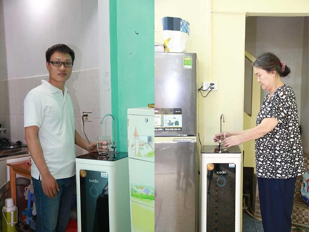 Hình ảnh khách hàng mua Máy lọc nước karofi optimus o i129 a