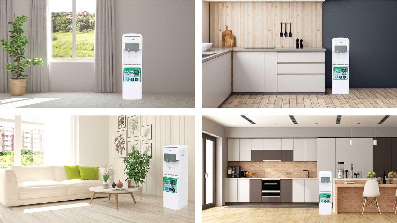Cây nóng lạnh úp bình KAROFI HC16 an toàn với mọi không gian trong gia đình bạn