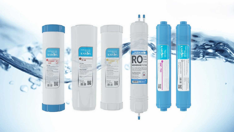 Máy lọc nước nóng lạnh Karofi HCV362 tích hợp 6 lõi lọc