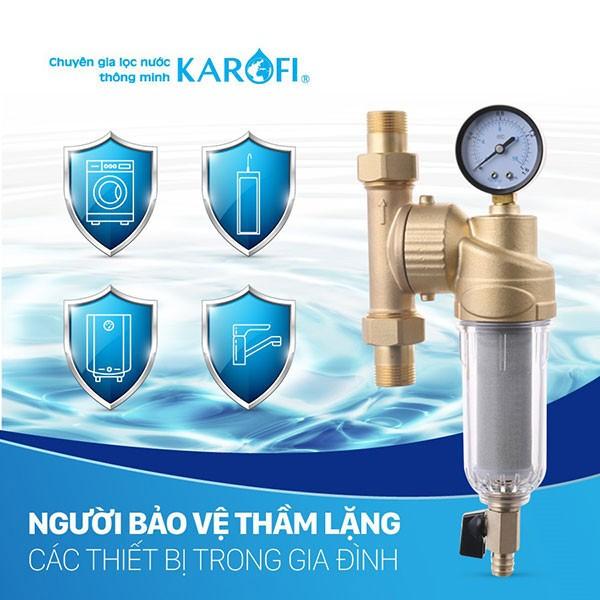 Lọc nước đầu nguồn Karofi bảo vệ thiết bị gia đình
