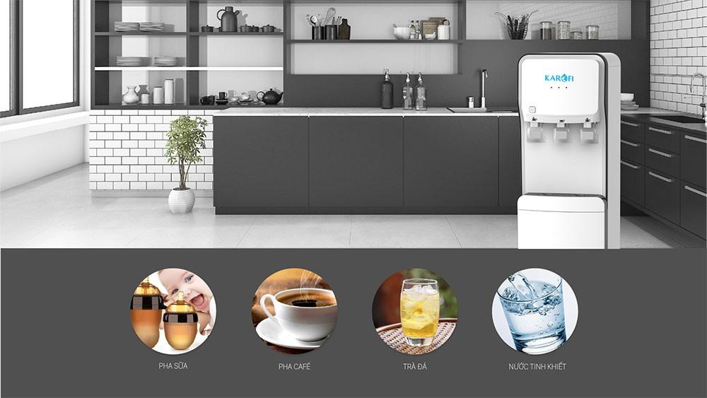 Cây nóng lạnh hút bình Karofi HC18 trang bi 3 vòi lấy nước