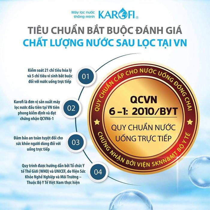 Máy lọc nước Karofi được đảm bảo về chất lượng cũng như
