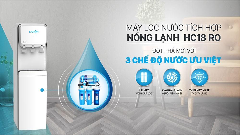 Máy lọc và làm nóng lạnh nước HC18RO an toàn tuyệt đối khi sử dụng
