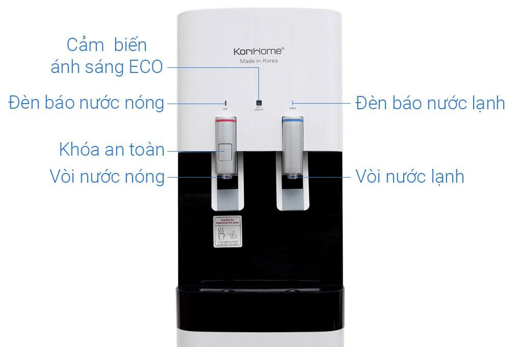 Korihome WPK 818S được tích hợp chức năng làm nước nóng lạnh