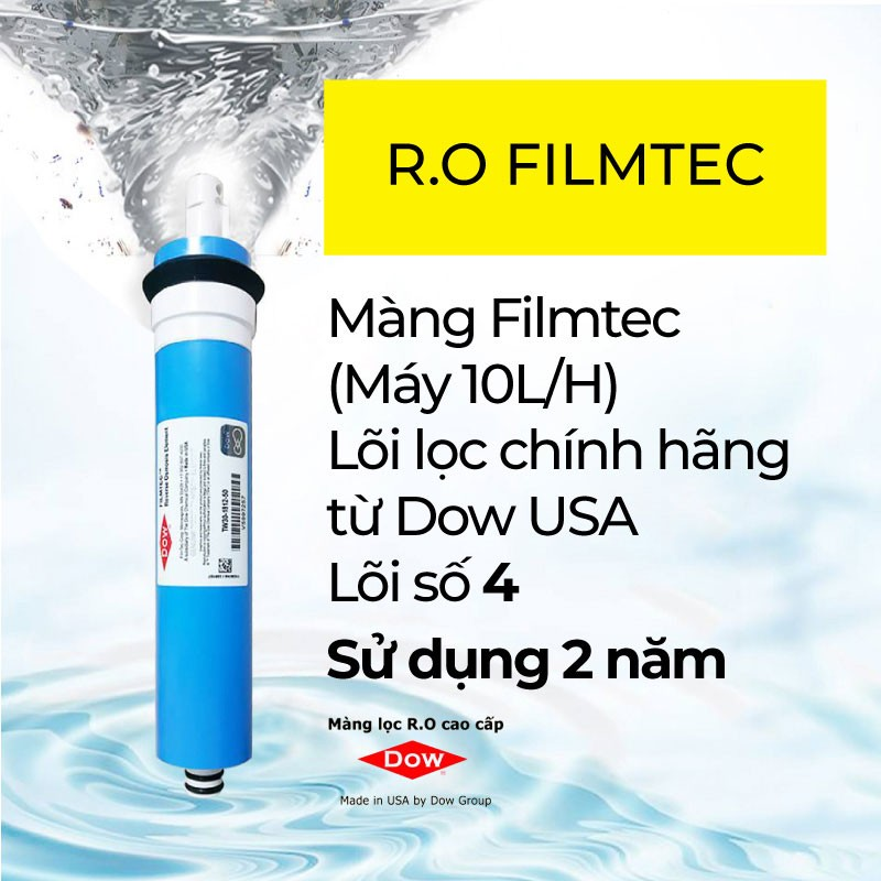 Máy được trang bị lõi lọc RO hoa kỳ giúp loại bỏ hoàn toàn vi khuẩn gây bệnh - Có nên dùng máy lọc nước Karofi