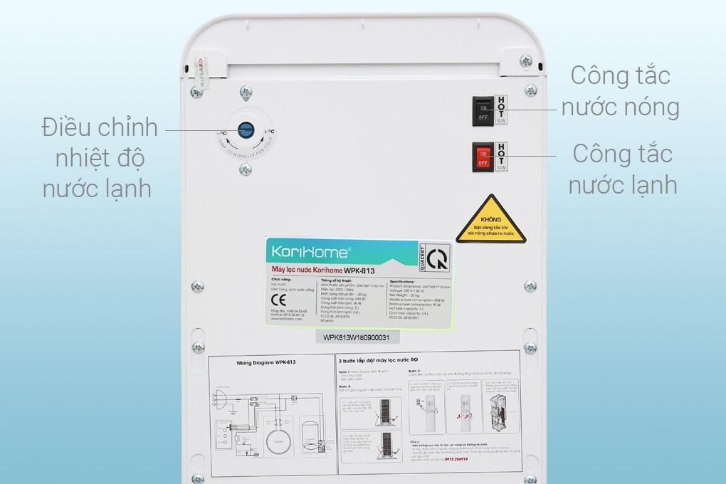 Công tắc máy lọc nước korihome WPK 813