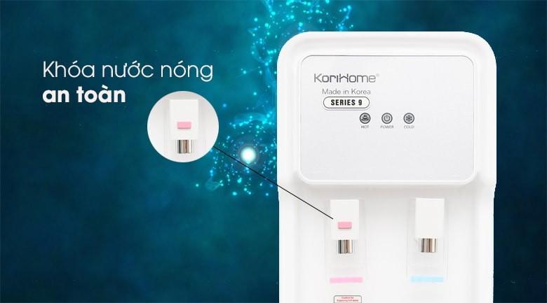 Máy lọc nước Korihome WPK-915 được trang bị khóa an toàn cao cấp