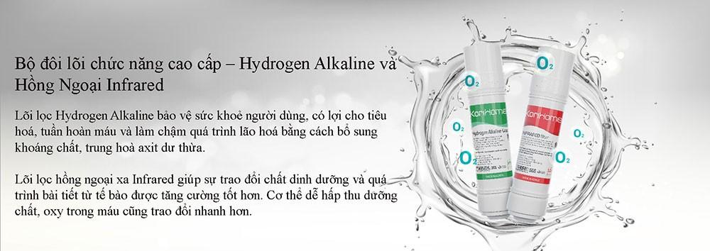 máy lọc nước tích hợp nóng lạnh KoriHome WPK-910 tích hợp bộ đôi lõi