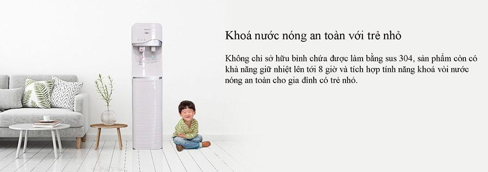 máy lọc nước tích hợp nóng lạnh KoriHome WPK-910 được trang bị khóa nước nóng cao cấp