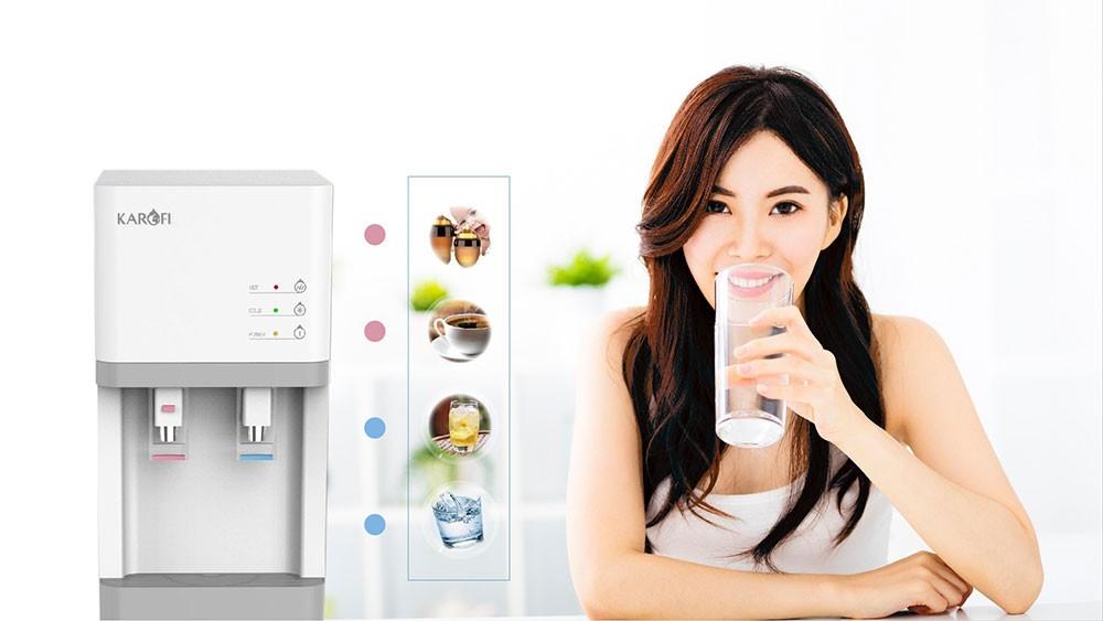 Máy lọc và làm nóng lạnh nước Karofi HCV200RO được tích hợp chế độ nóng và lạnh cao cấp