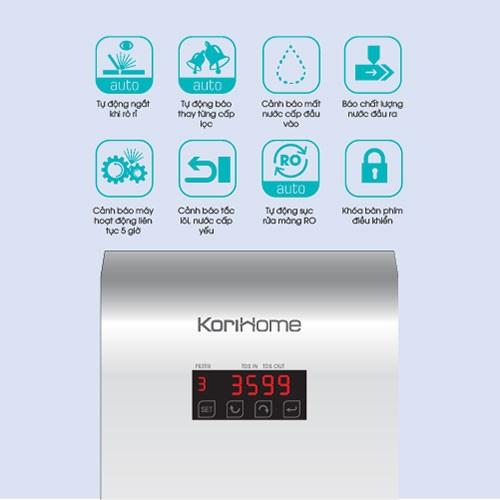 Chức năng của máy lọc nước korihome wpk 606
