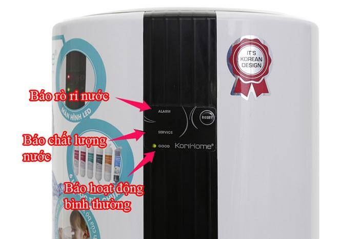 máy lọc nước korihome wpk 605 được trang bị những tính năng cao cấp cho người dùng