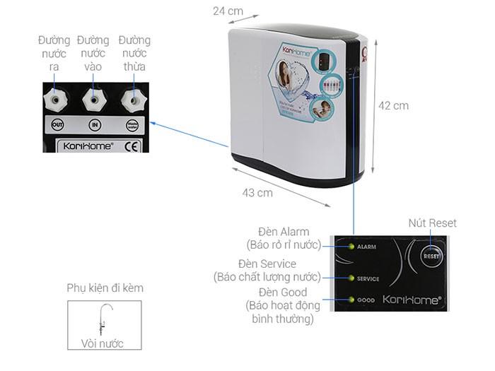 máy lọc nước korihome wpk 605 thiết kế cao cấp phù hợp với mọi người dùng