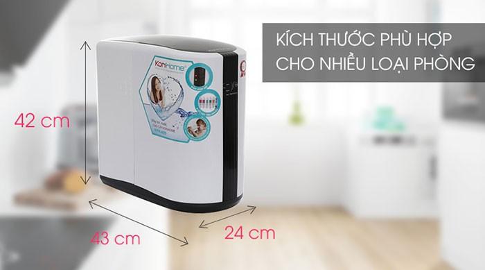 máy lọc nước korihome wpk 605 có kích thước nhỏ gọn