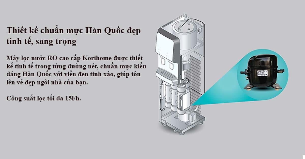 Thiết kế chuẩn mực đến từ Hàn Quốc của máy lọc nước KoriHome WPK 938.