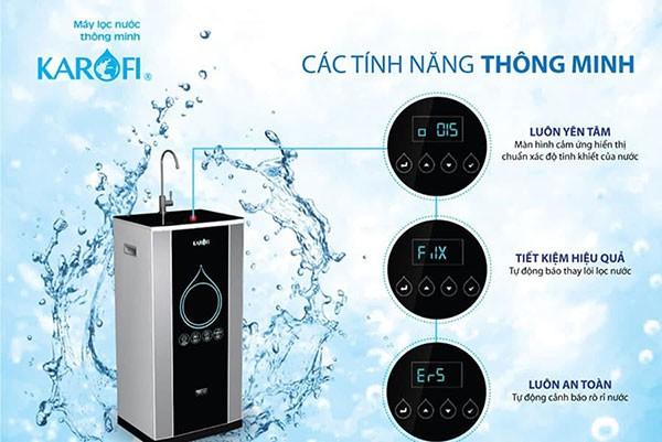 Các tính năng của máy lọc nước karofi
