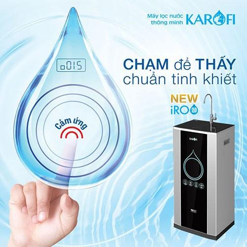 Máy lọc nước karofi trang bị màn cảm ứng