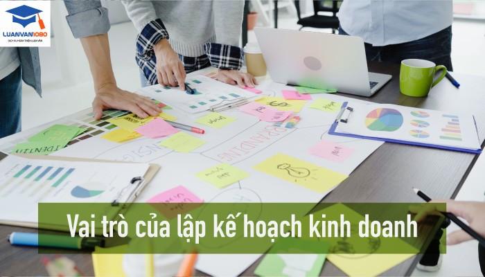 Vai trò của lập kế hoạch kinh doanh