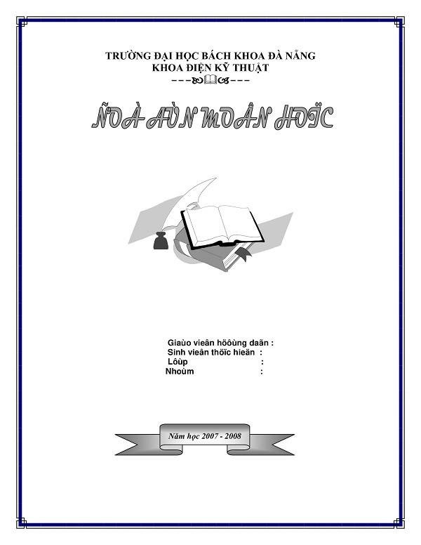 Mẫu bìa luận văn