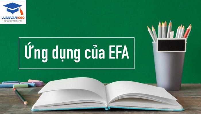 Ứng dụng của EFA