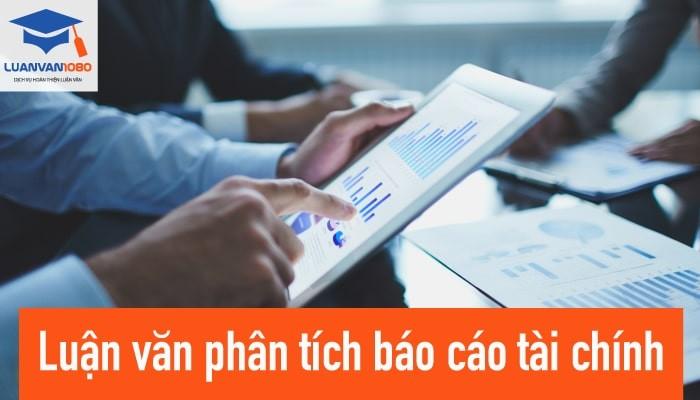 Luận văn phân tích báo cáo tài chính