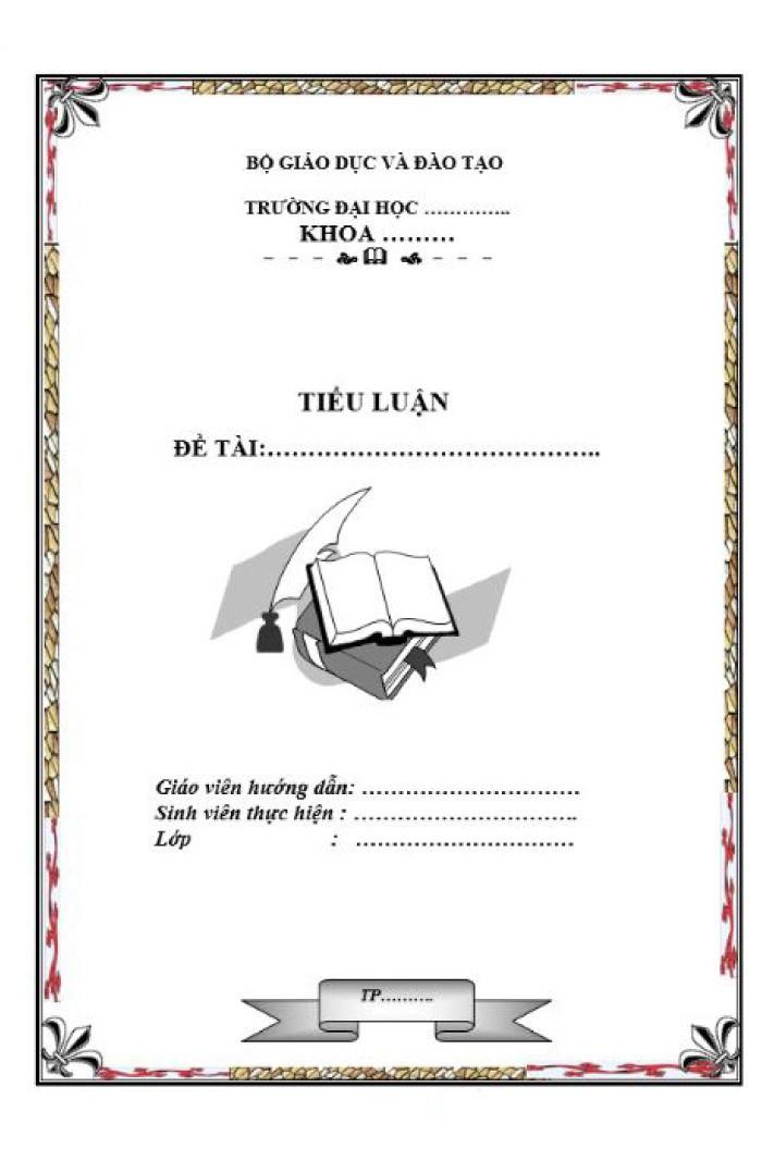 Mẫu bìa tiểu luận của trường đại học