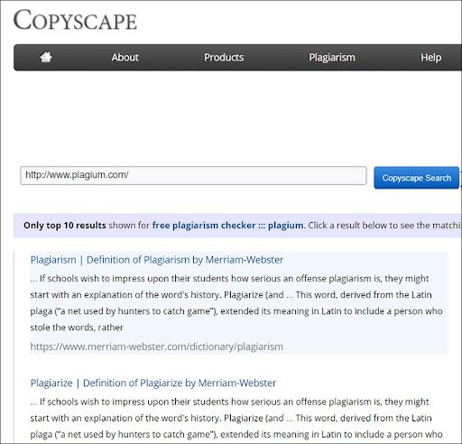 Tool check đạo văn CopyScape
