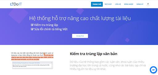 Phần mềm check đạo văn online DoIT