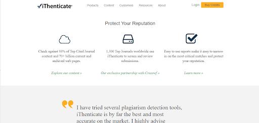 Công cụ check đạo văn iThenticate
