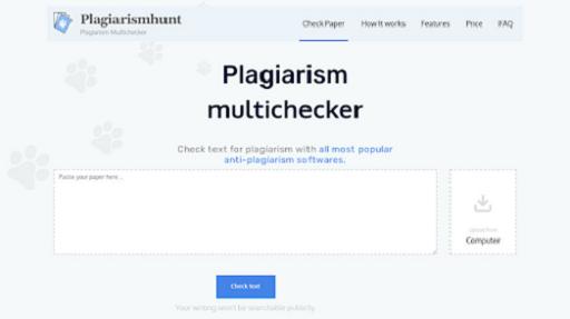 Phần mềm check đạo văn online Plagiarismhunt
