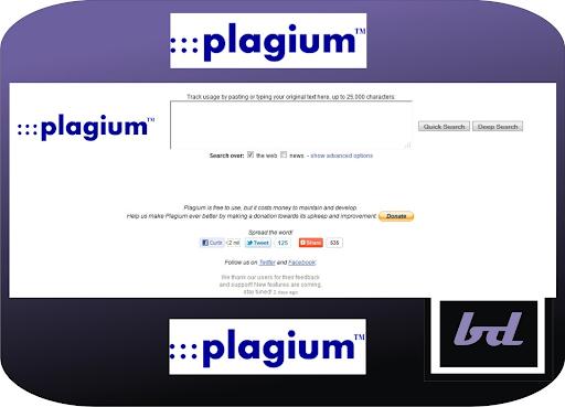 Tool check đạo văn Plagium