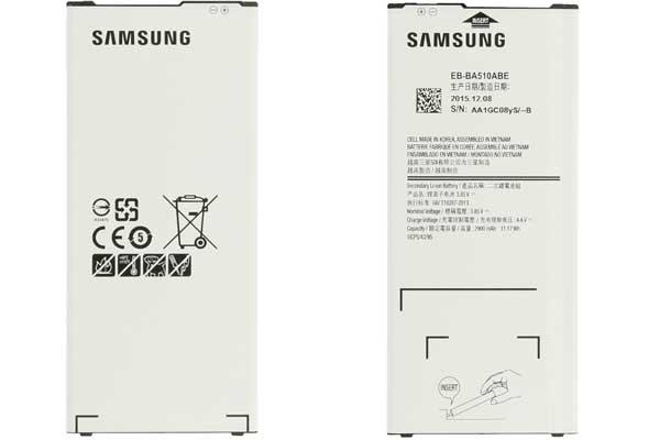Linh kiện thay pin Samsung A5 2016
