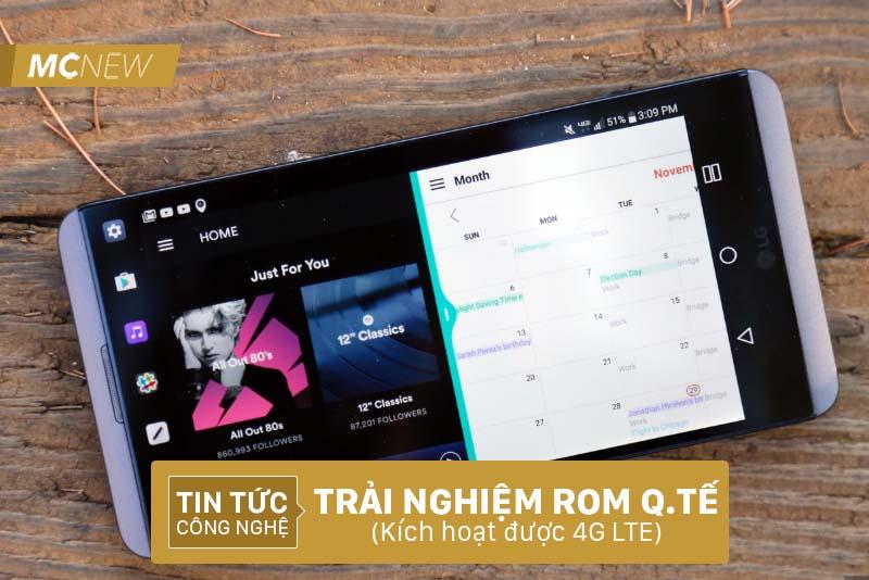 Trải nghiệm ROM Quốc tế trên LG V20 Mỹ, kích hoạt 4G LTE, sóng ổn định