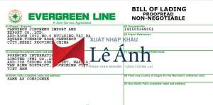 vận đơn bill of lading