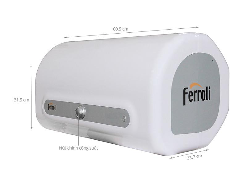 Bình nóng lạnh Ferroli QQME30 chống giật 2500W