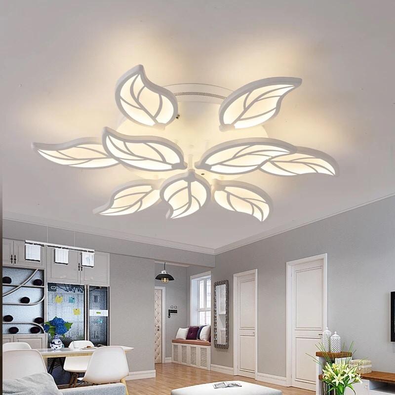 mẫu đèn ốp trần hình lá