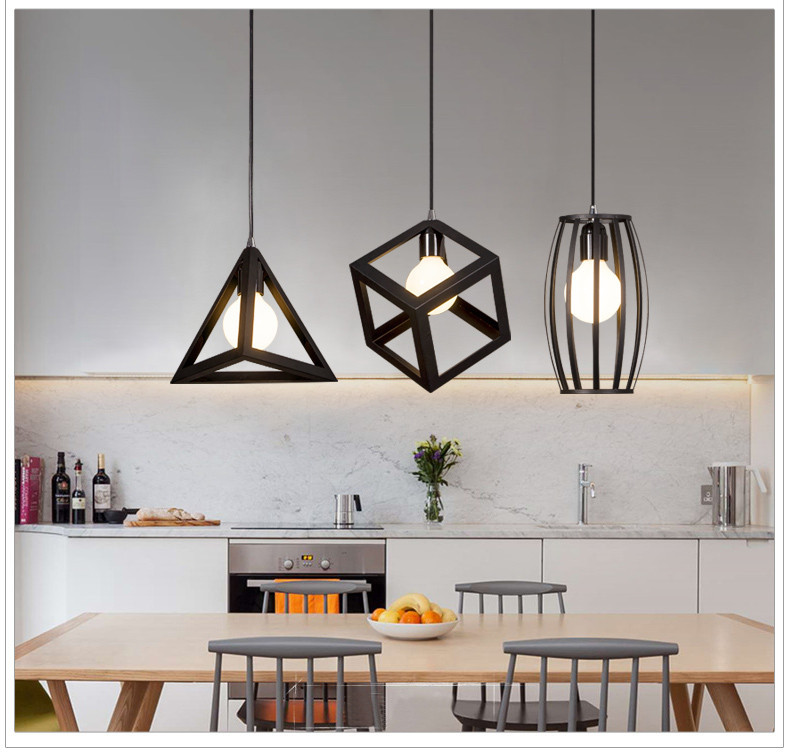 Bộ 3 đèn trang trí thả bàn ăn