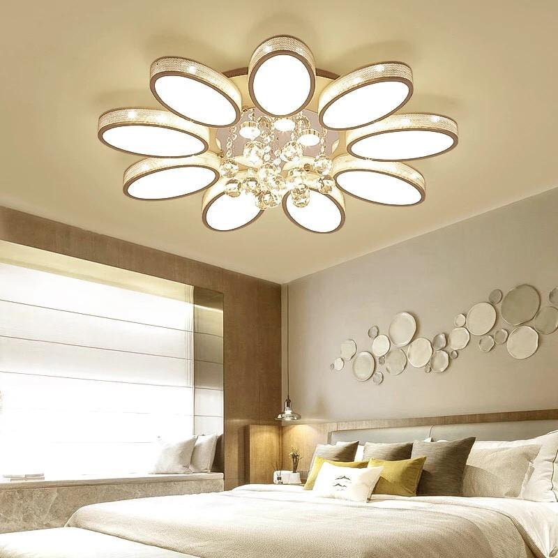 Đèn trang trí pha lê chùm phòng ngủ - Đèn chùm
