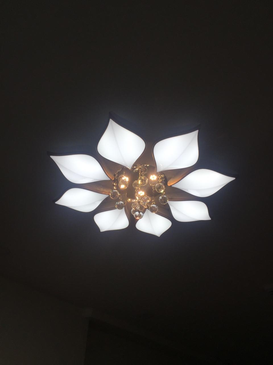 Đèn ốp trần cánh hoa pha lê HTOP-09
