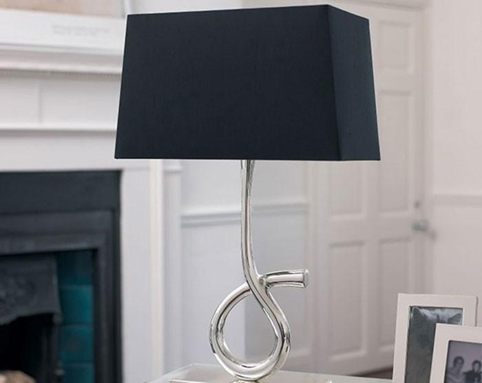 Đèn để bàn phòng ngủ - Đèn bàn phòng ngủ đẹp chân xoắn- Đèn Để Bàn