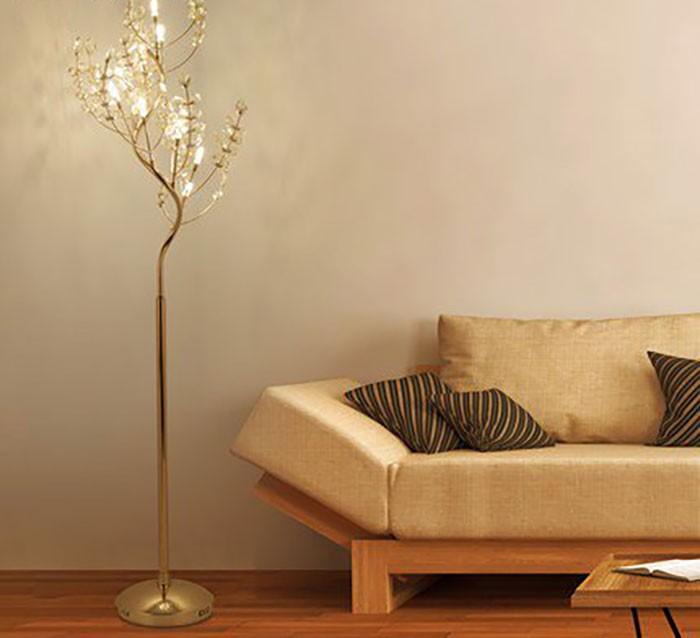 Đèn cây đứng phòng ngủ cách điệu - Đèn cây đứng