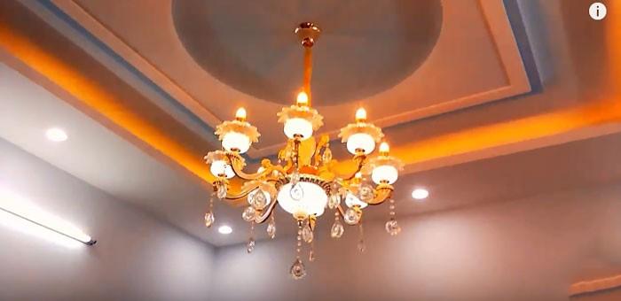 Đèn chùm phòng khách dạng nến - Đèn chùm nến