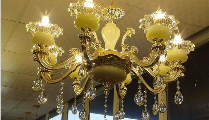 Đèn phòng ngủ dạng chùm bát ngọc - Đèn chùm pha lê
