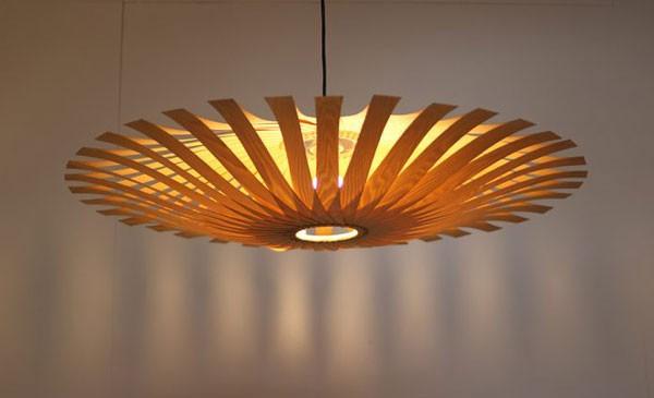 Đèn trang trí LED gỗ nội thất phòng khách - Đèn trang trí