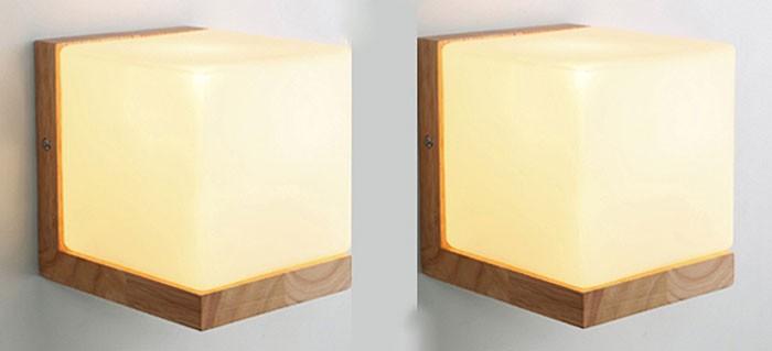 Đèn gắn tường hình khối trang trí phòng ngủ - Đèn treo tường phòng ngủ