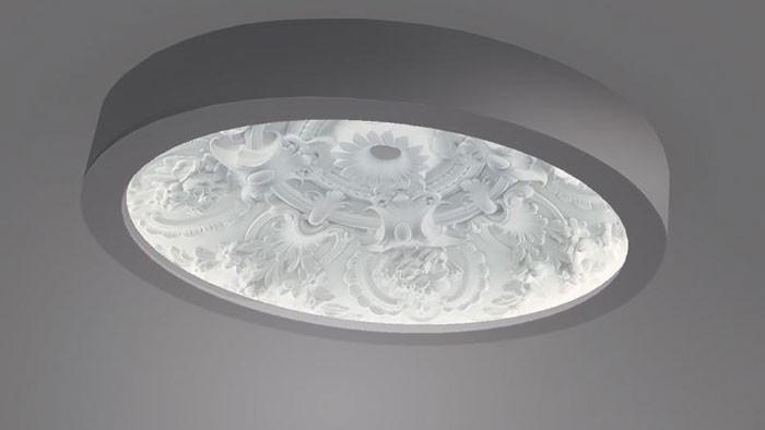 Đèn LED ốp trần hình hoa văn trang trí - Đèn ốp trần trang trí - Đèn ốp trần
