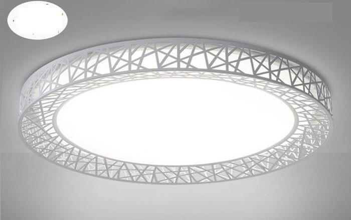 Đèn LED ốp trần viền hoa văn-Đèn ốp trần trang trí -Đèn ốp trần