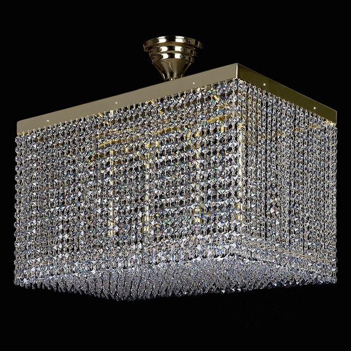 Đènthả pha lê hình khối trang trí phòng khách