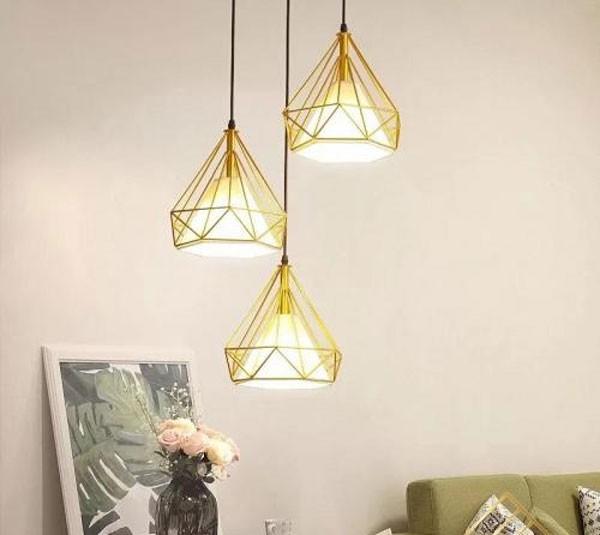 Đèn thả trần phòng khách trang trí hiện đại