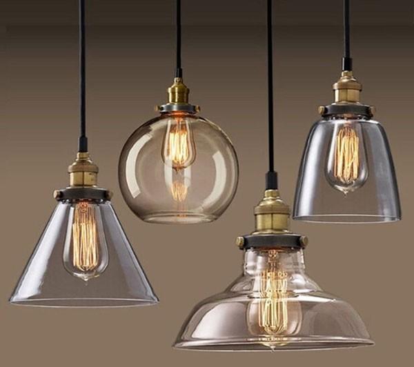 Đèn thả bàn thủy tinh - Đèn thả trần thủy tinh bàn ăn